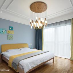 温暖现代风格卧室布置