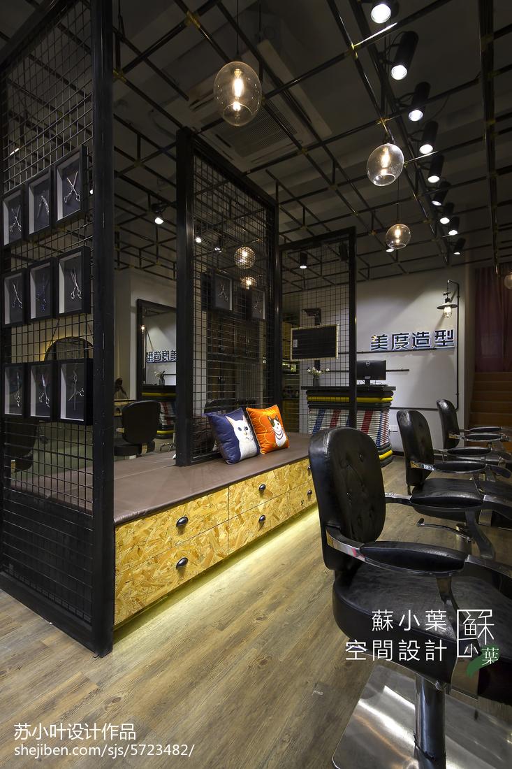 生活资讯_黑色的美发造型店设计 – 设计本装修效果图