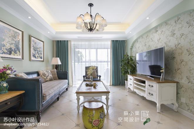 清新雅致美式客厅设计