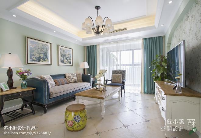 家居美式清新客厅设计