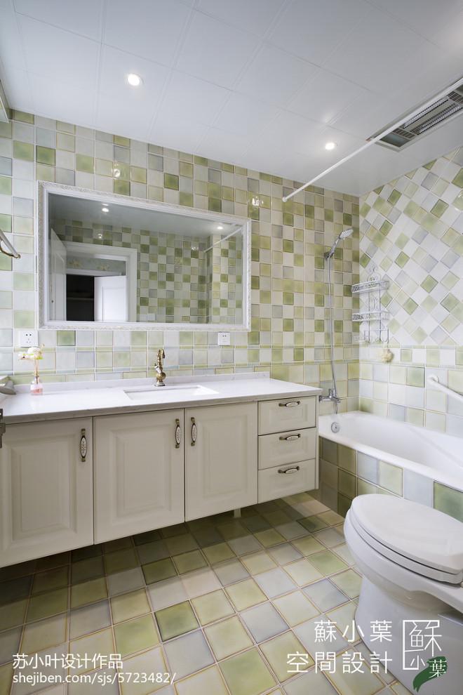 美式风格卫浴马赛克设计