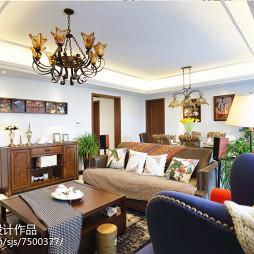 自然美式风格客厅装修