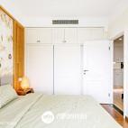 清新日式卧室效果图