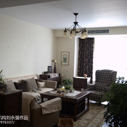 自然美式乡村风格客厅装修