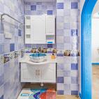 地中海风情清新卫浴设计