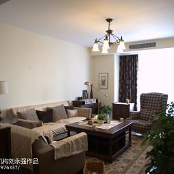 2017美式风格客厅装修