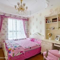 混搭风格粉色系儿童房布置