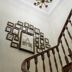 家装美式别墅照片墙设计