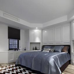 素白美式风格卧室装修
