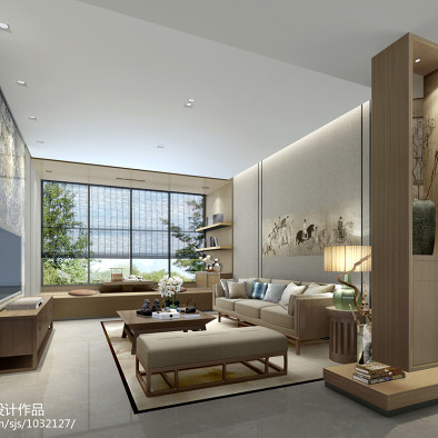 新中式样板房设计_2548848