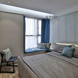 现代风格简约卧室布置