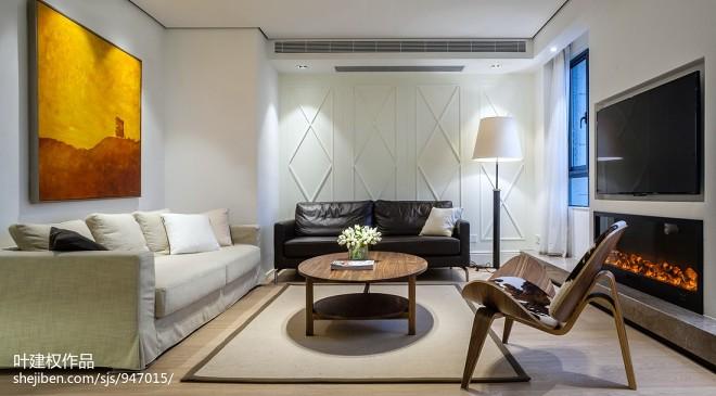 简洁现代风格客厅装修图