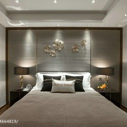现代风格家居样板房卧室设计