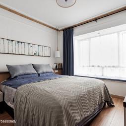 北欧原木风卧室布置