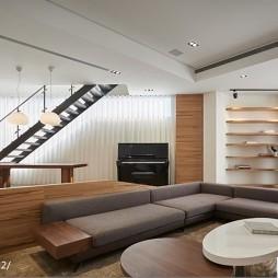 混搭风格复式客厅设计