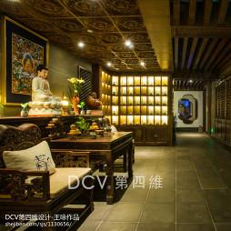 新中式主题餐厅大厅设计