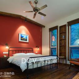 美式乡村民宿卧室装修