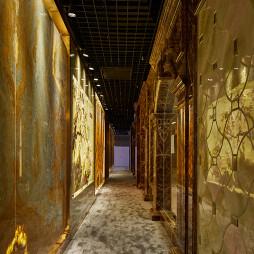 奢华石材展厅过道设计