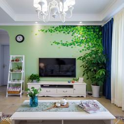 自然田园风格背景墙设计