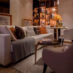 家装混搭风格样板房客厅设计