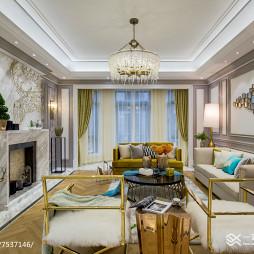 家装简欧风格别墅客厅设计