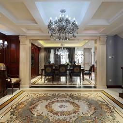 古典美式别墅过道设计