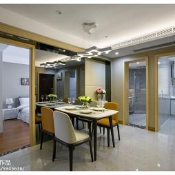 家装现代风格样板房餐厅设计