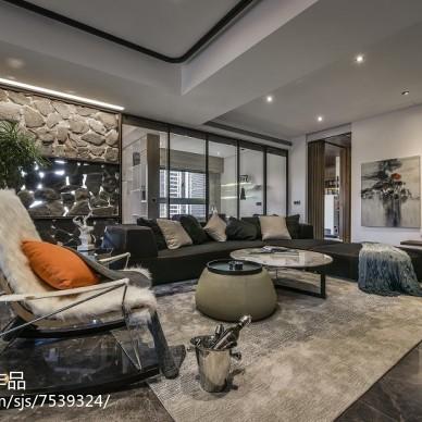 现代风格三居室客厅装修图片