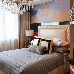 家装混搭风格样板房卧室设计