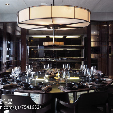 沉稳中式风格餐厅设计