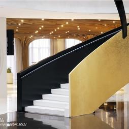 时尚售楼处楼梯装修
