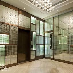 工装住客会所电梯口设计