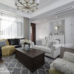 白色系美式风格客厅装修