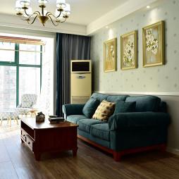 美式风格二居室客厅装修