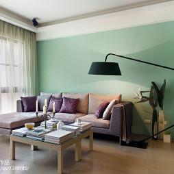 现代风格二居室客厅整体
