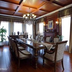 古典美式别墅餐厅设计