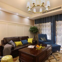家装美式四居室客厅效果图
