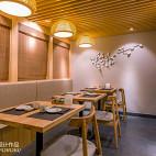 竹の里日式料理店就餐区装修