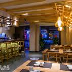 工装竹の里日式料理店装修
