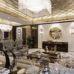 简欧风格样板房客厅设计