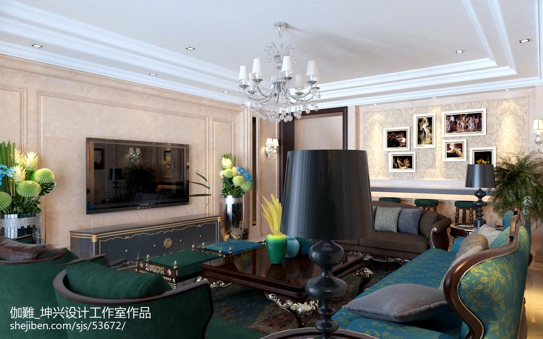 复古欧式风格别墅客厅设计