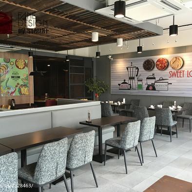 香恋柠萌餐厅用餐区装修
