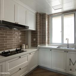 美式风格白色厨房设计