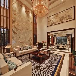 别墅中式风格客厅装修案例