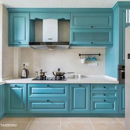 美式风格蓝色橱柜设计