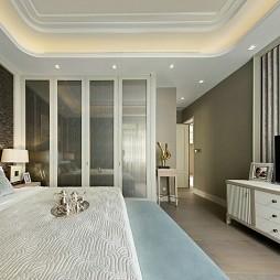 最新现代风格样板房卧室设计