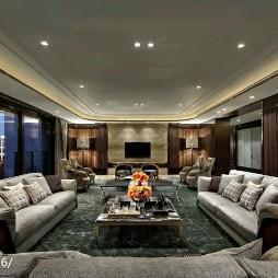家居混搭风格样板房客厅装修