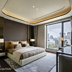 最新混搭风样板房卧室设计