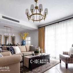 美式三居客厅设计效果图