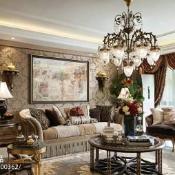 法式风格样板间客厅设计